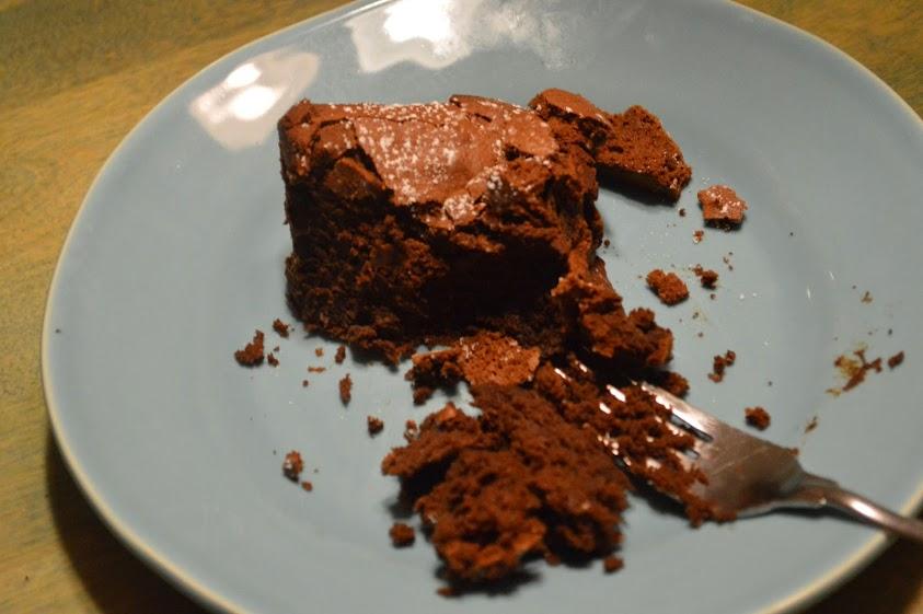 A mouthful of chocolate