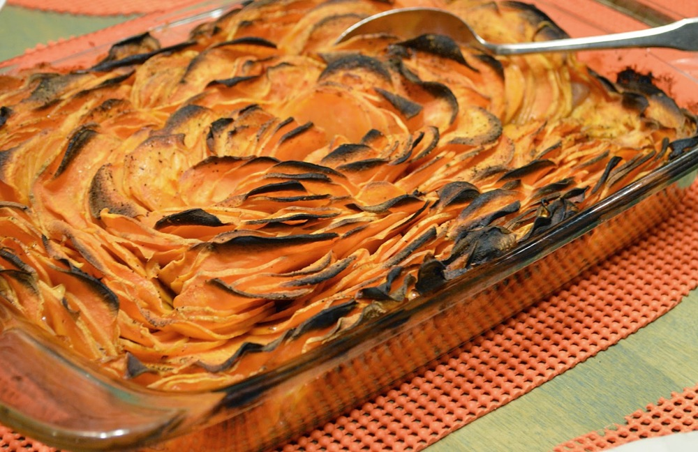 Crispy Sweet Potato Chip Bake