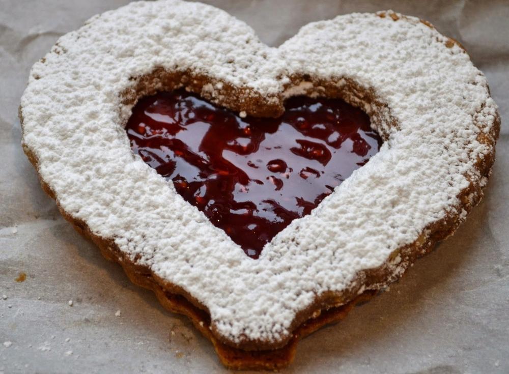 Valentine's Day Linzer Hearts