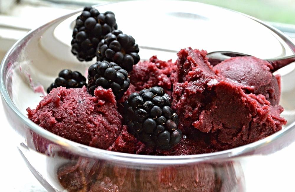 Blackberry Blueberry Buttermilk Sherbet