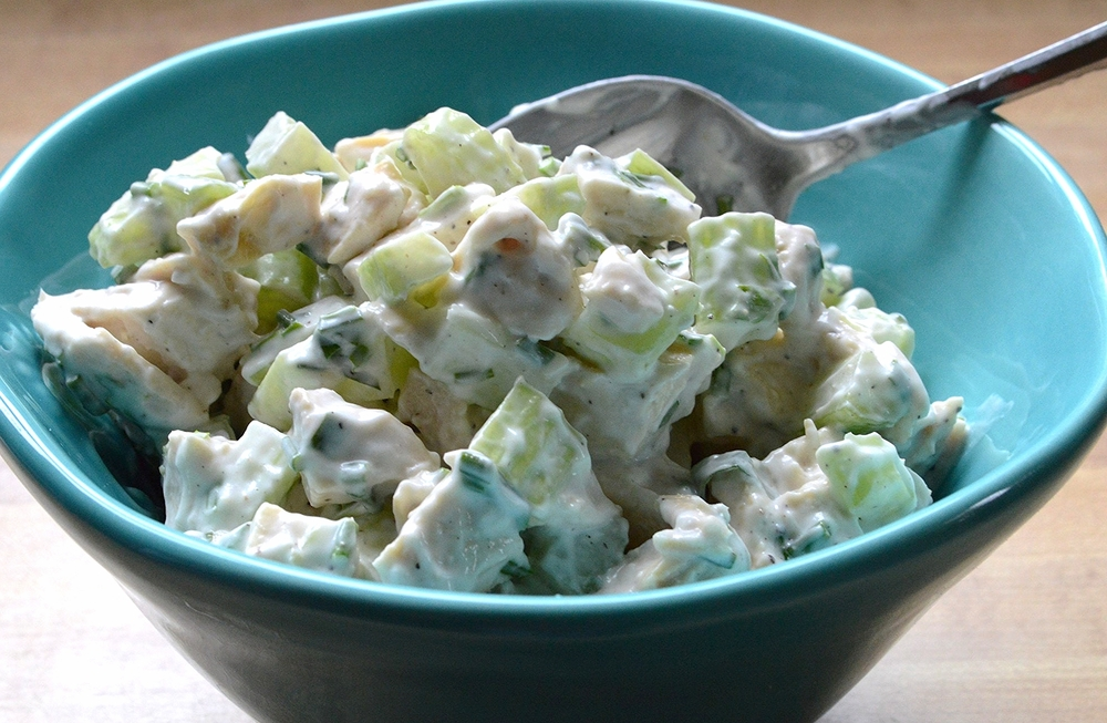 Chicken Salad-Lightened Up