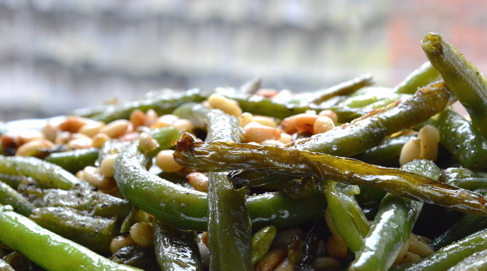 Caramelized Green Beans with Toasted Pine NUts