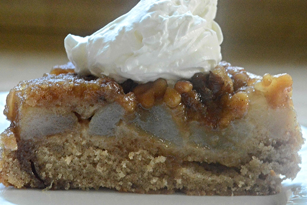 Maple Walnut Pear Cake