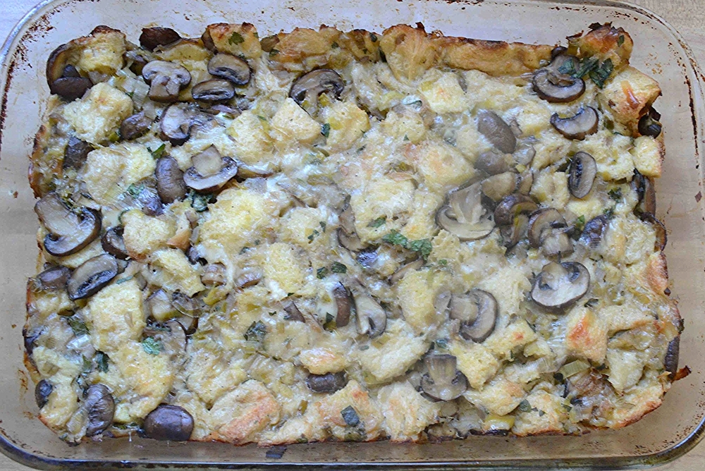 Sunday Suppers' Wild Mushroom and Brioche Stuffing