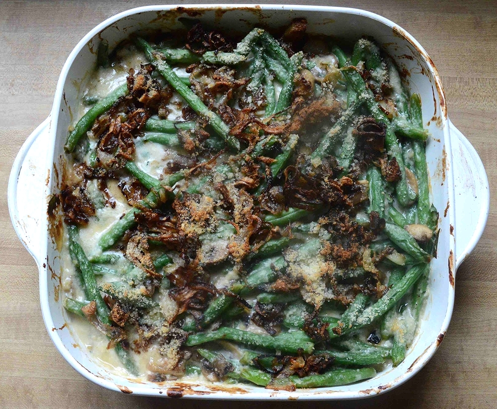 Holiday Green Bean Casserole-Lightened Up