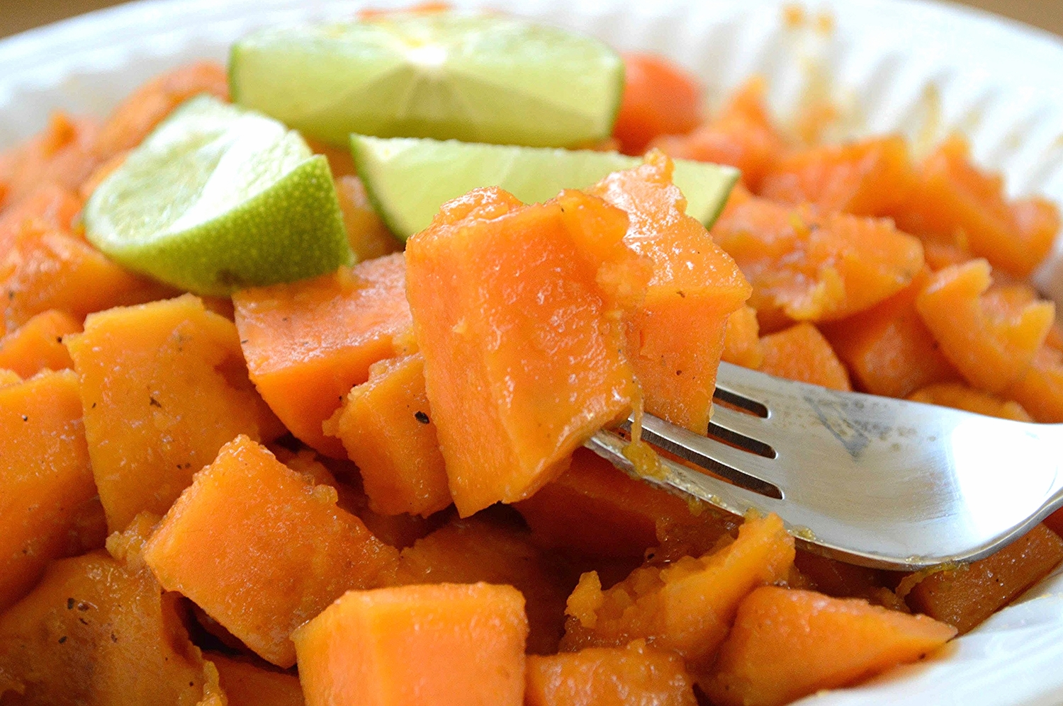 recipe: glazed sweet potatoes with brown sugar and lime [2]