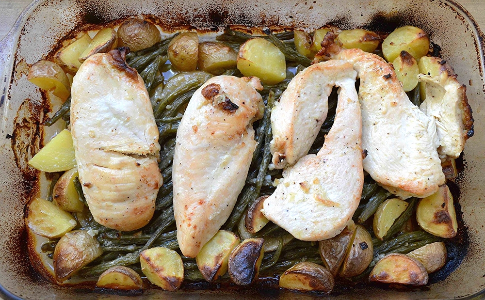 One-Pan Chicken with Lemony Green Beans and Potatoes
