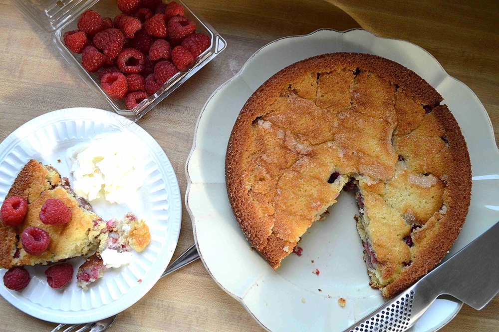 Everyday Raspberry Buttermilk Cake