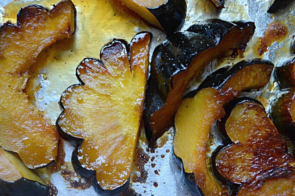 Maple-Soy Glazed Acorn Squash
