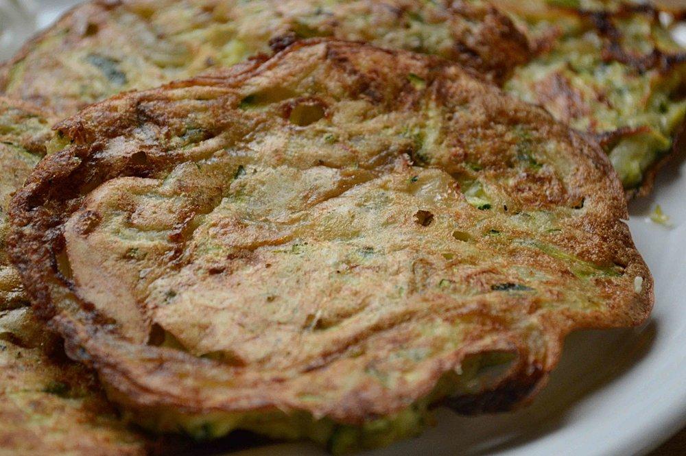 Baked Zucchini-Potato Latkes