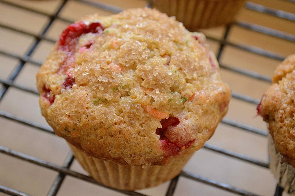 Cranberry, Zucchini and Carrot Muffins