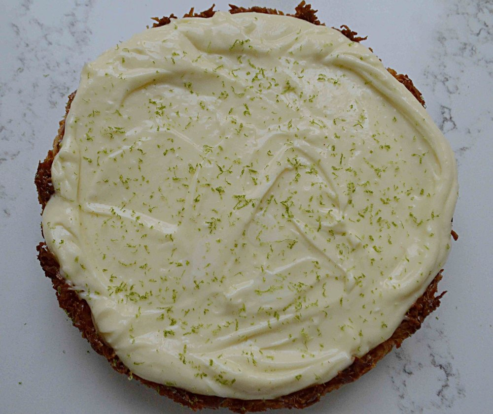 Coconut Macaroon and Lime Cheesecake