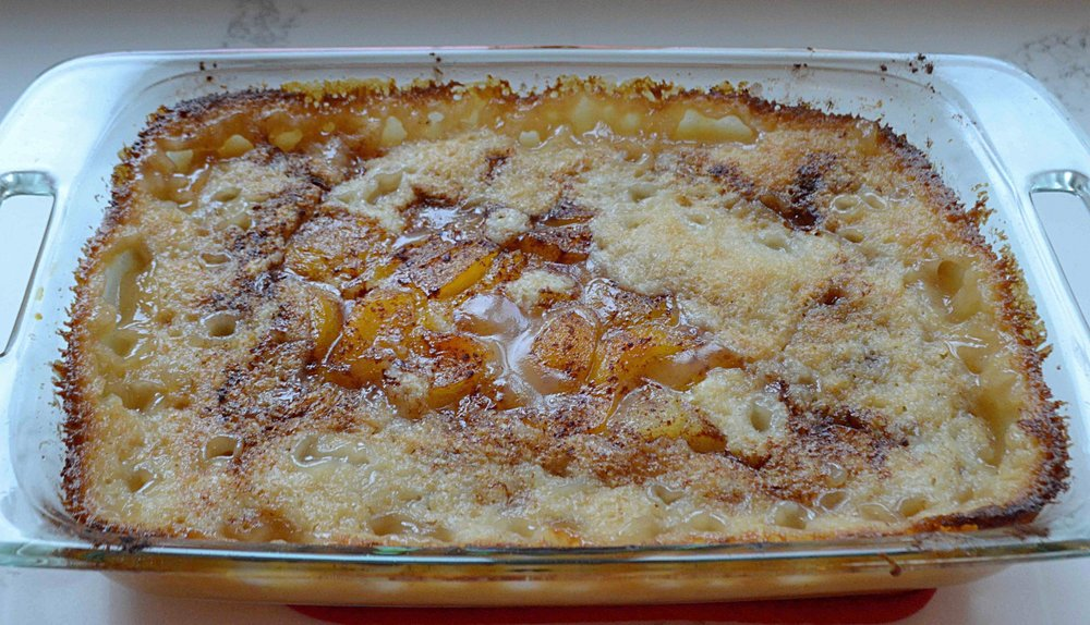 Upside Down Peach Cobbler