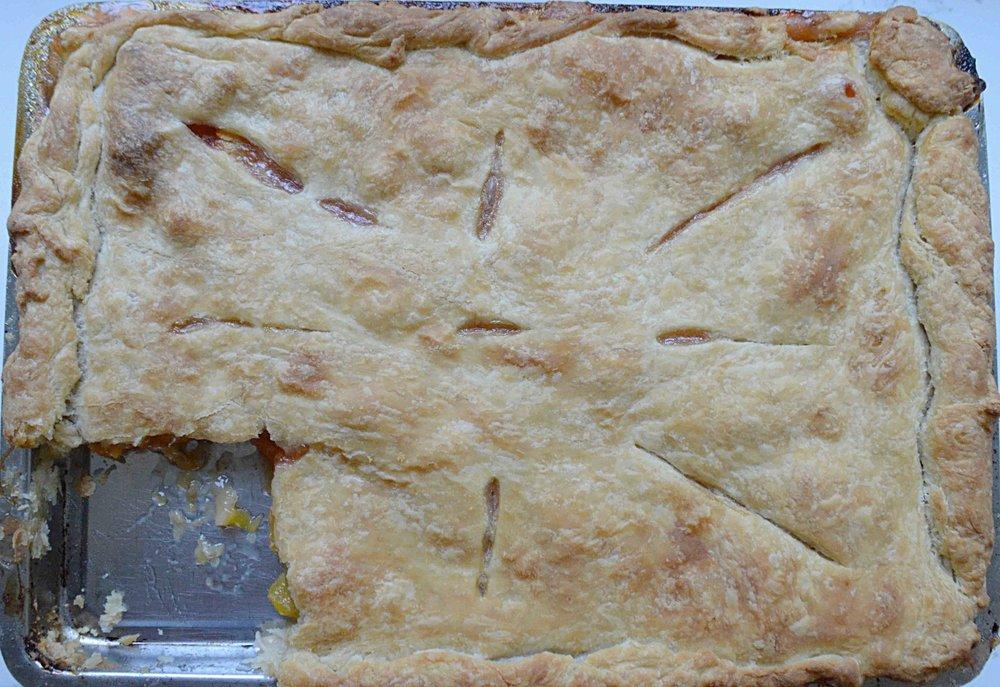Nectarine Slab Pie