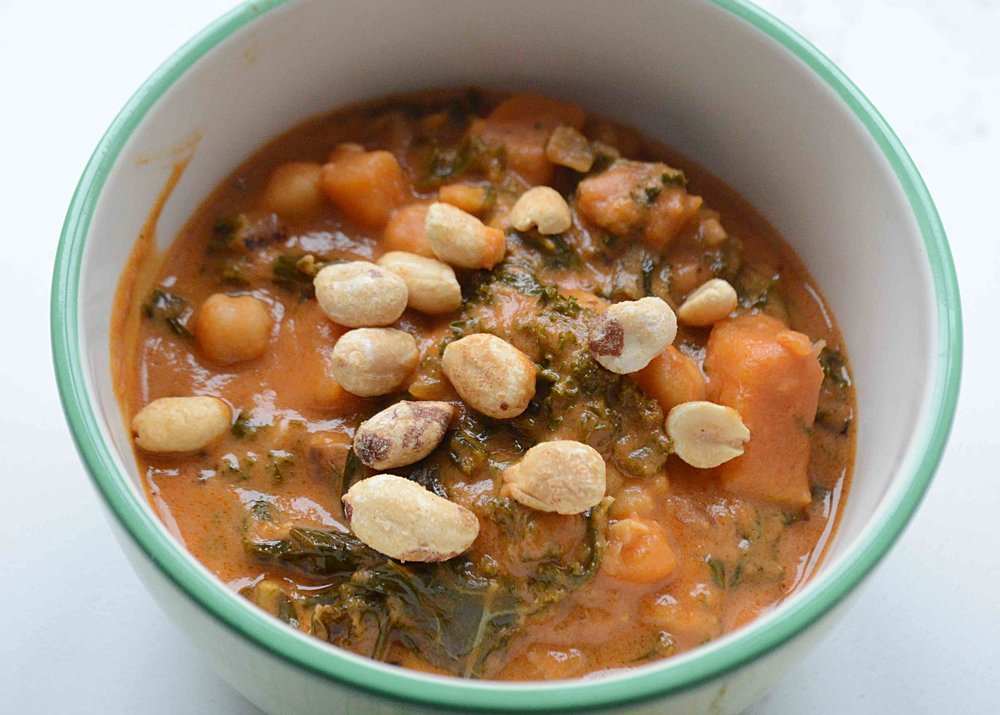Chickpea, Sweet Potato and Peanut Soup