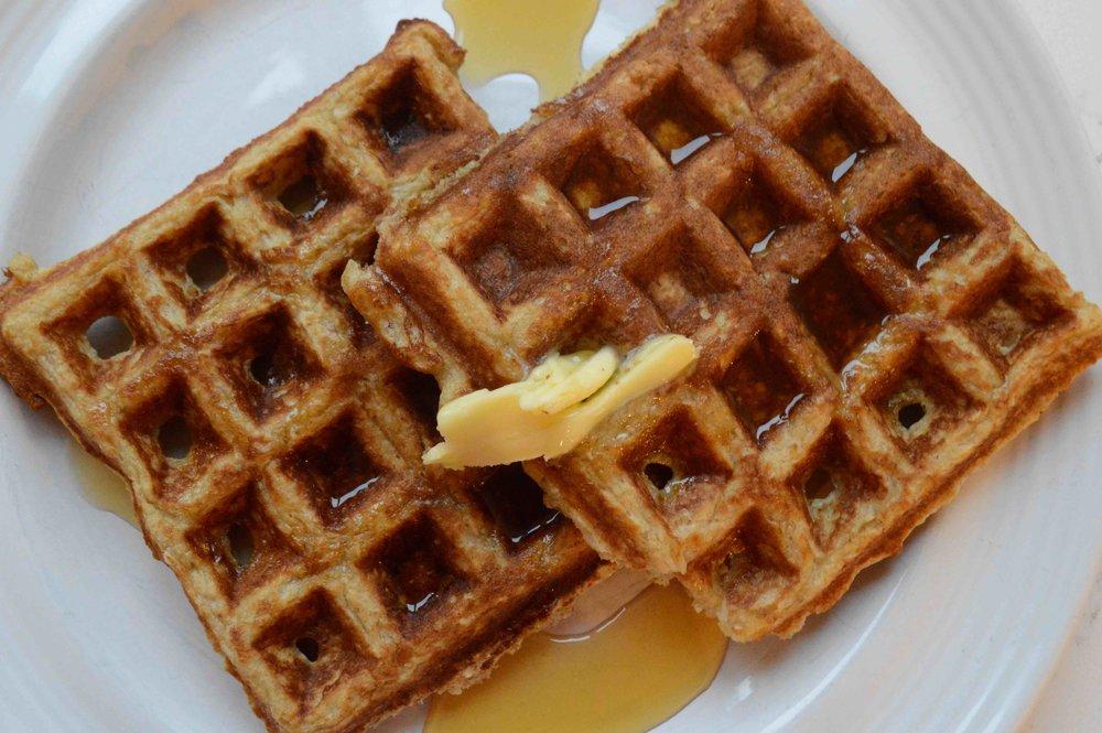 Healthier Oatmeal Waffles