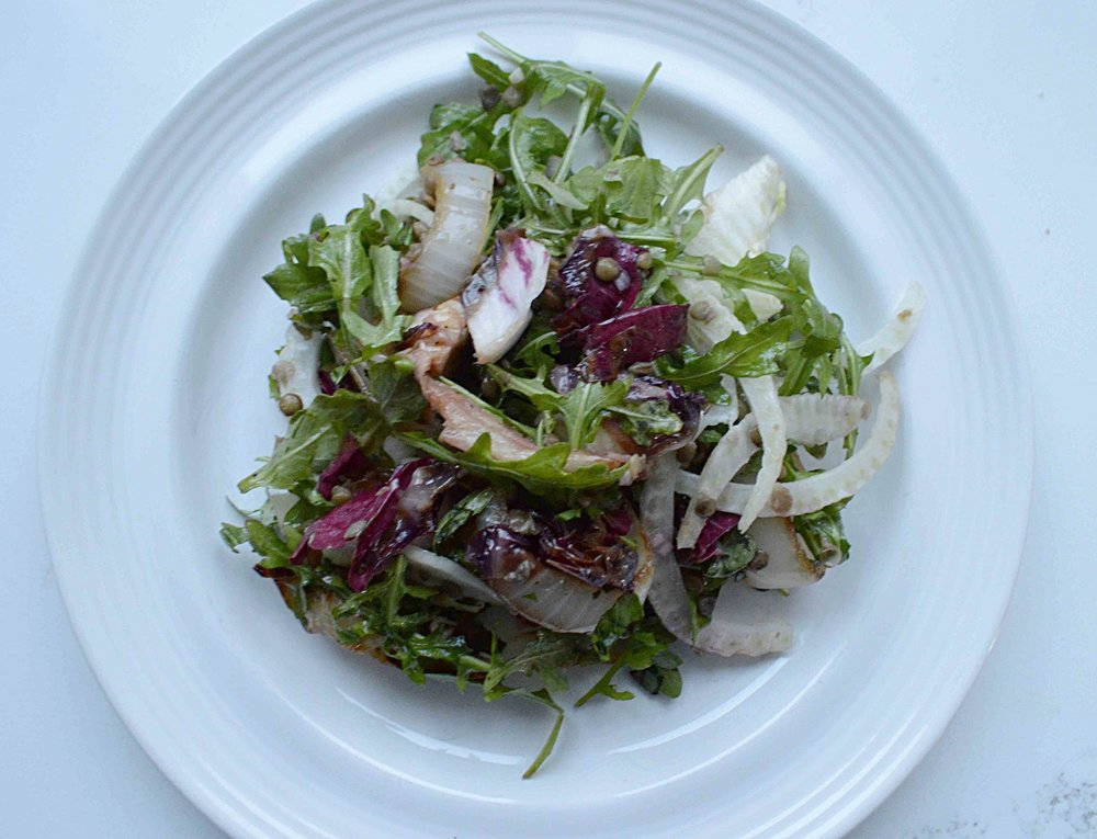 Gail Simmons' Lentil, Grilled Radicchio & Sweet Onion Salad