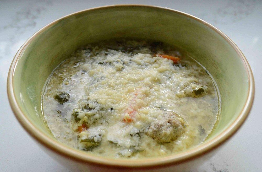 Stracciatella Soup With Mini Meatballs Unwritten Recipes
