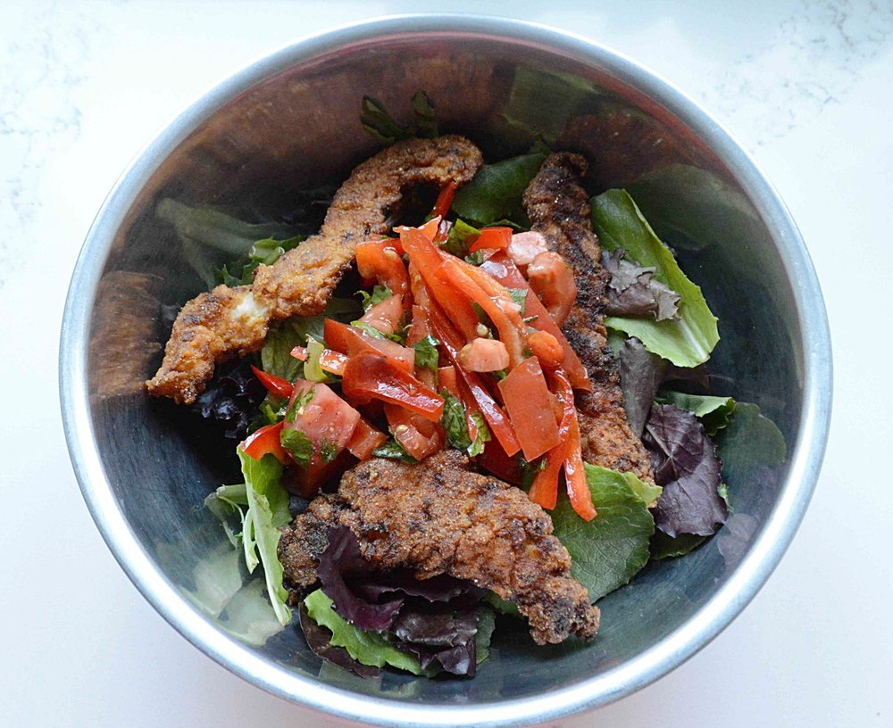 Warm & Spicy Fried Chicken Salad
