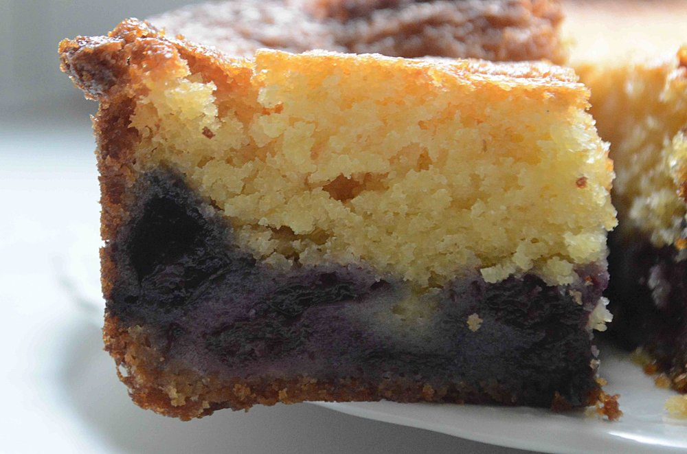 Blueberry Cornmeal Muffin Cake