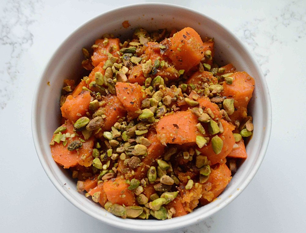 Carrots with Pistachios and Apricots