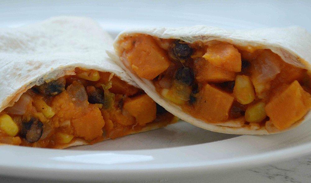 Easy Veggie Burritos