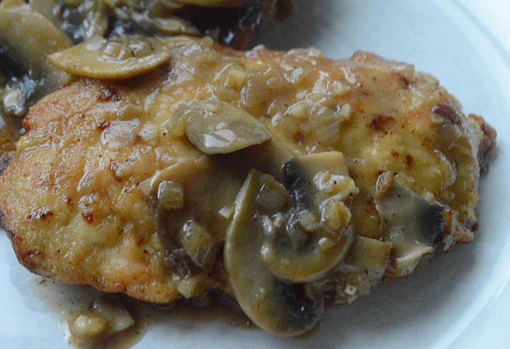 Chicken Cutlets in Mushroom-Sherry Sauce