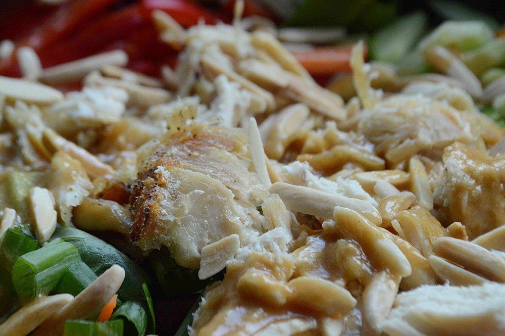 Thai-Style Chicken Salad with Peanut Sauce Vinagrette