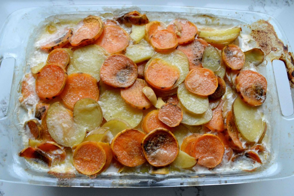 Potato & Sweet Potato Gratin