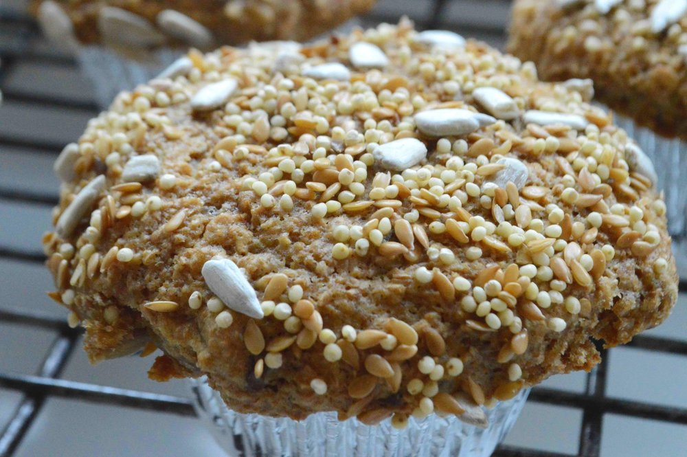 Addictive+Bran+Muffins+with+Birdseed+Topping