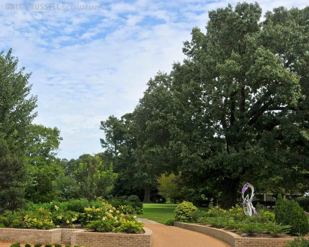 Cumulonimbus installed at Memphis Botanical Gardens Brian