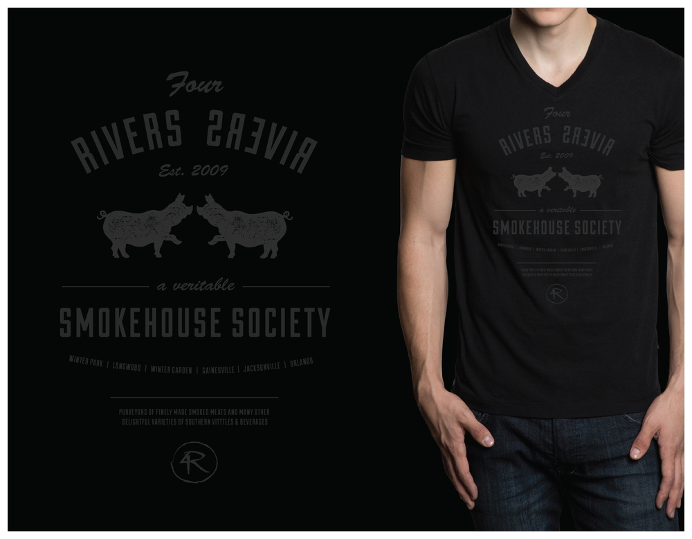 T-shirt I designed for the Smokehouse.