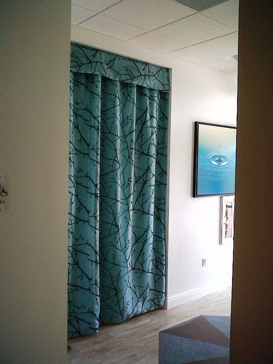 Custom Drapery   with Mini Valance | Medical Office