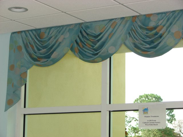 Swag Valances with Cascades   New Horizons Center for Children, Fort Pierce, FL
