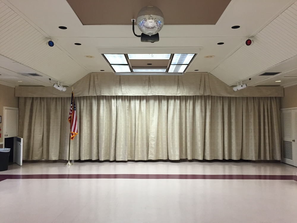Auditorium Blackout Draperies   with Custom Valance | Golden Lakes, FL