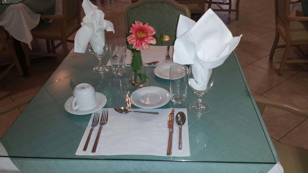 Aventura dining table linens