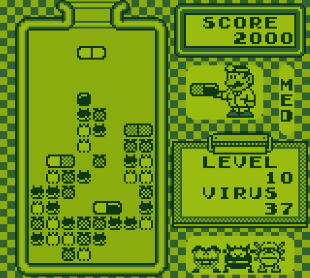 Gameboy color palettes - Drmario Gameplay