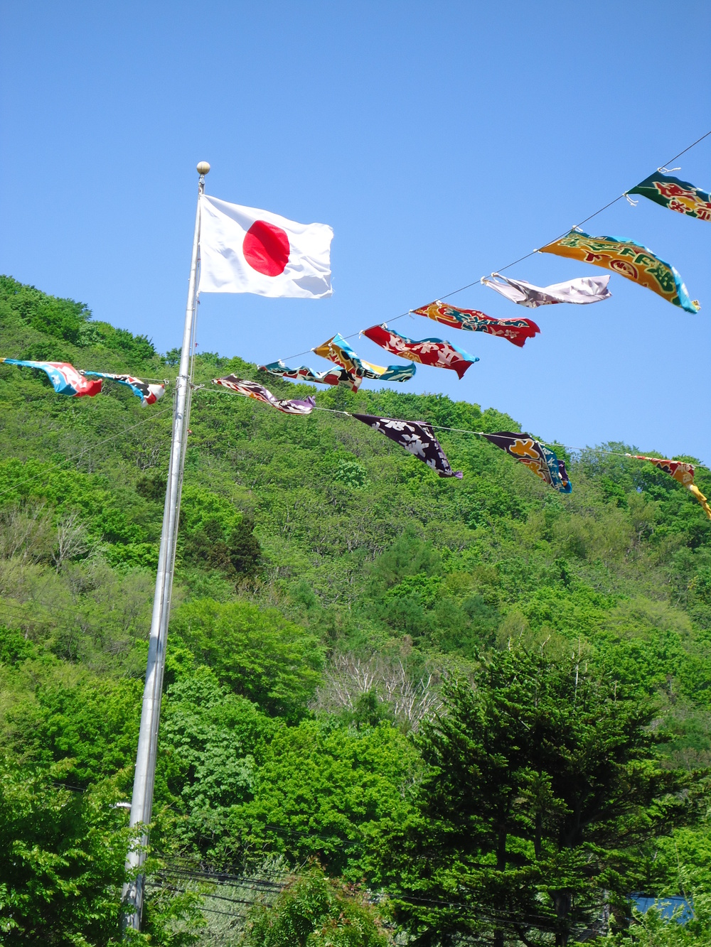 Flags at Yobetsu