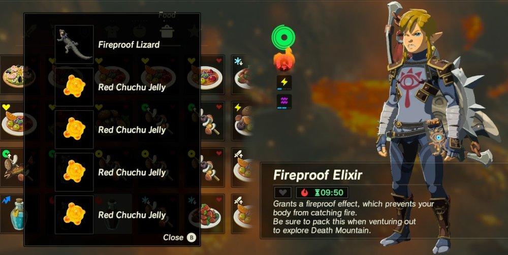 breath of the wild elixer recipes