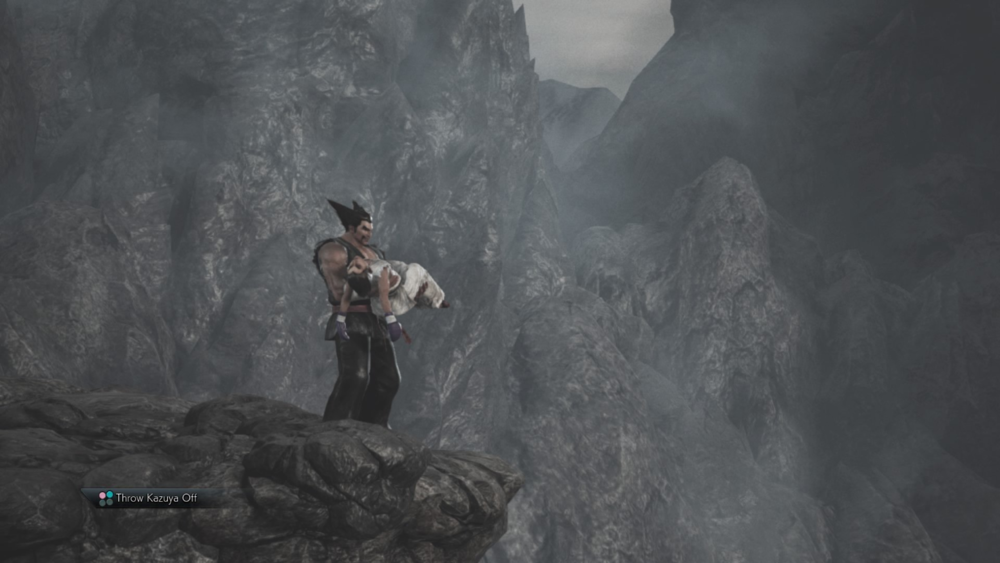Mishima Parenting 101: Throw your son off a cliff.