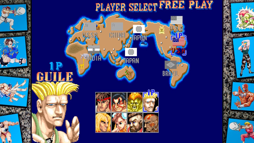 Street Fighter II player select