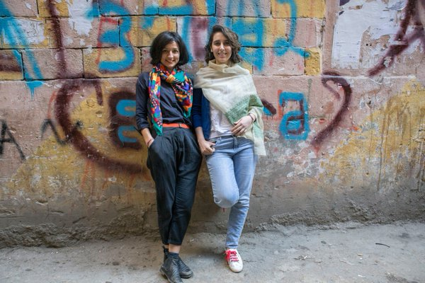 Dina Mousawi (left) & Itab Azzam (right)
