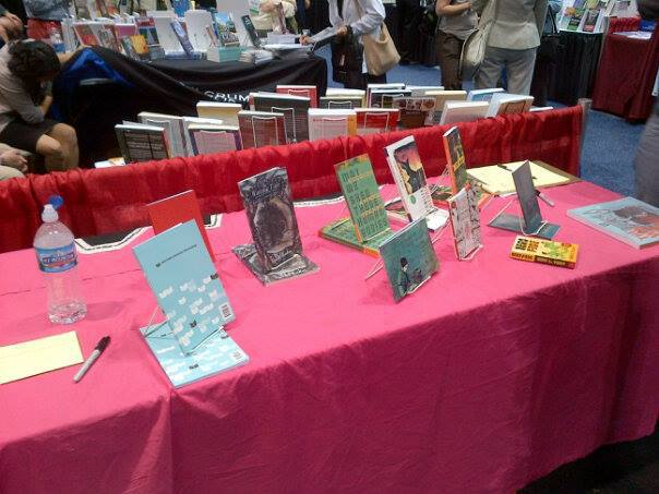 This was our table at ALA 2013; come see how much we've grown!