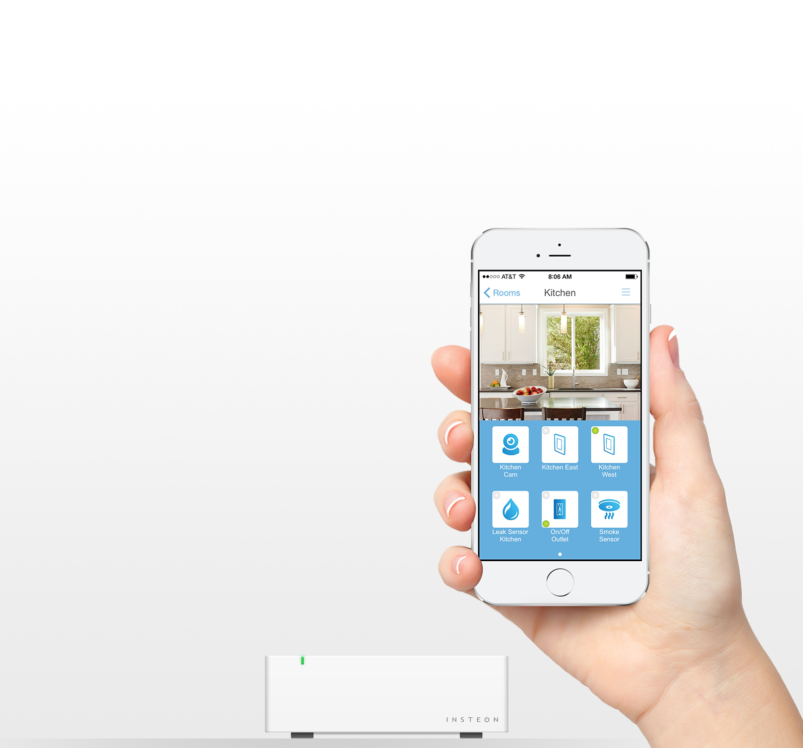 Smartphone Controlled Outlet on/off outlet — insteon