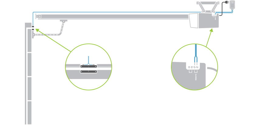 The Included Garage Door Sensor Mounts To The Garage Door And Is Wired  Directly To I/O Lincu0027s Sensor Input. Receive Instant Alerts When Using The  Insteon ...