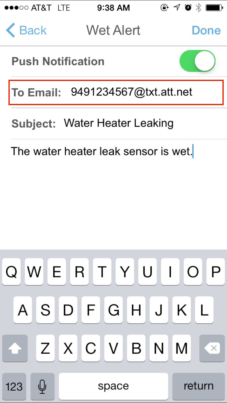 In the To Email field, enter your phone's carrier-specific email address
