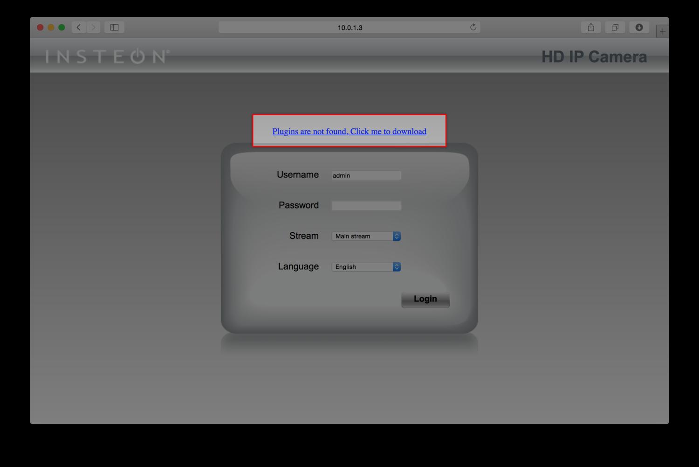 Installing the HD WiFi Camera Browser Plug-in (Safari) — Insteon