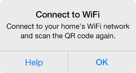 Connect to Wi-Fi and Scan the QR Code Again — Insteon