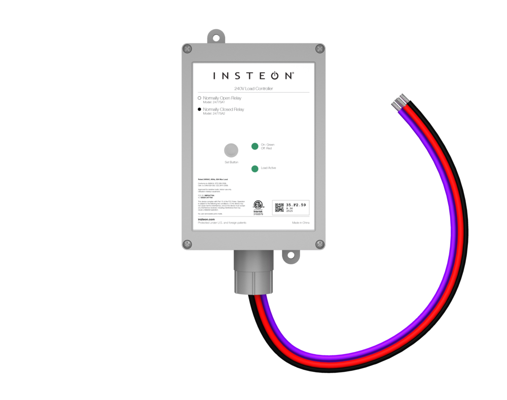 V Load Controller  Insteon - Normally open relay vs normally closed relay