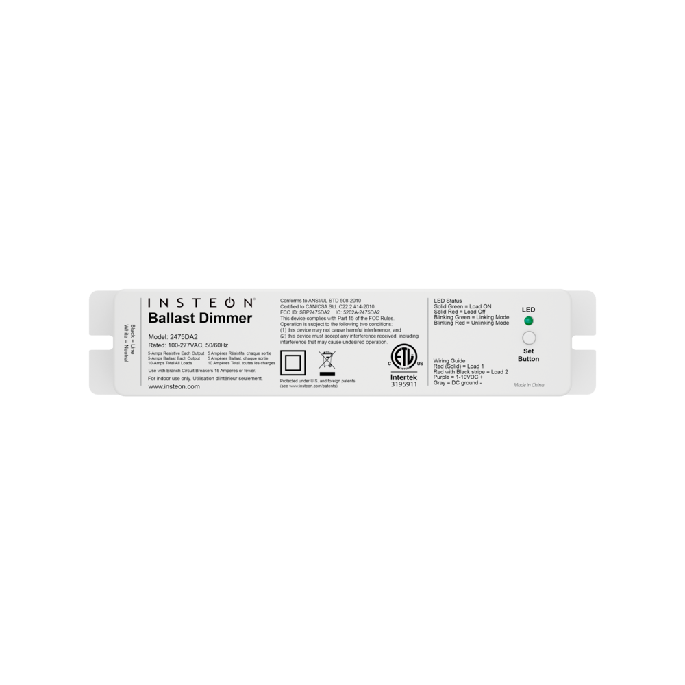 0 10v Ballast Dimmer Insteon Electronic Rated Relay